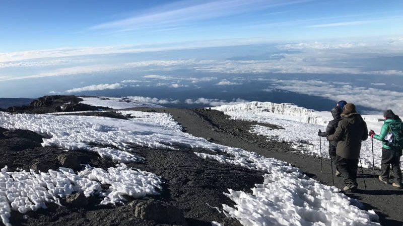 ultra adventures kilimanjaro trip snow capped mountain