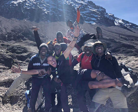 Scott Kilimanjaro group photo with Ultra Adventures