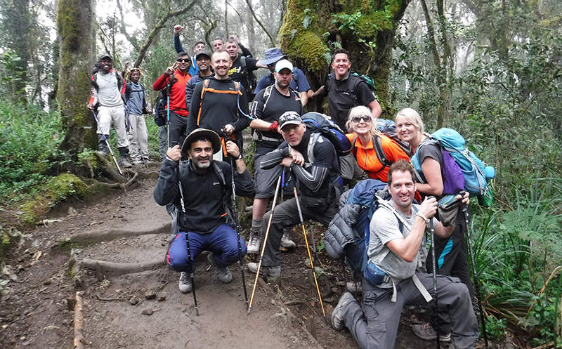 Amazing motivated group climb Kilimanjaro